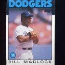 1986 Topps Baseball #470 Bill Madlock - Los Angeles Dodgers
