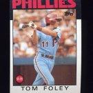 1986 Topps Baseball #466 Tom Foley - Philadelphia Phillies