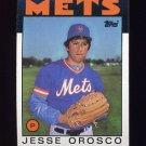 1986 Topps Baseball #465 Jesse Orosco - New York Mets