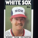 1986 Topps Baseball #447 Jerry Don Gleaton - Chicago White Sox
