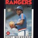 1986 Topps Baseball #434 Curt Wilkerson - Texas Rangers