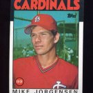1986 Topps Baseball #422 Mike Jorgensen - St. Louis Cardinals