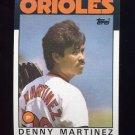 1986 Topps Baseball #416 Dennis Martinez - Baltimore Orioles