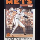 1986 Topps Baseball #414 Tom Gorman - New York Mets NM-M