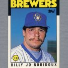1986 Topps Traded Baseball #092T Billy Jo Robidoux RC - Milwaukee Brewers