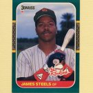 1987 Donruss Rookies Baseball #50 James Steels - San Diego Padres