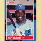 1988 Donruss Baseball #044 Gary Thurman RR - Kansas City Royals NM-M