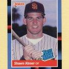 1988 Donruss Baseball #033 Shawn Abner RR - San Diego Padres