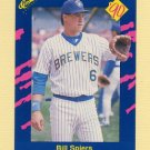 1990 Classic Blue Baseball #134 Bill Spiers - Milwaukee Brewers