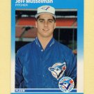 1987 Fleer Update Baseball #084 Jeff Musselman - Toronto Blue Jays
