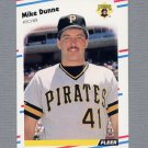 1988 Fleer Baseball #328 Mike Dunne - Pittsburgh Pirates