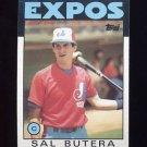 1986 Topps Baseball #407 Sal Butera - Montreal Expos