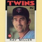 1986 Topps Baseball #381 Ray Miller MG / Minnesota Twins Team Checklist