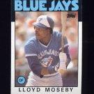 1986 Topps Baseball #360 Lloyd Moseby - Toronto Blue Jays