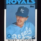 1986 Topps Baseball #359 Mike LaCoss - Kansas City Royals