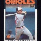 1986 Topps Baseball #358 Rick Dempsey - Baltimore Orioles
