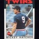1986 Topps Baseball #356 Mickey Hatcher - Minnesota Twins