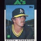 1986 Topps Baseball #353 Keith Atherton - Oakland A's