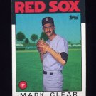 1986 Topps Baseball #349 Mark Clear - Boston Red Sox