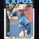 1986 Topps Baseball #344 Jim Wohlford - Montreal Expos