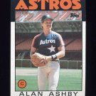 1986 Topps Baseball #331 Alan Ashby - Houston Astros