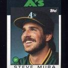 1986 Topps Baseball #281 Steve Mura - Oakland A's