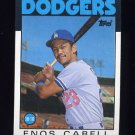 1986 Topps Baseball #197 Enos Cabell - Los Angeles Dodgers