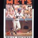 1986 Topps Baseball #191 Wally Backman - New York Mets