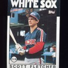 1986 Topps Baseball #187 Scott Fletcher - Chicago White Sox