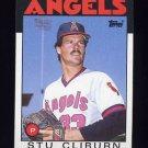 1986 Topps Baseball #179 Stu Cliburn - California Angels