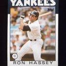 1986 Topps Baseball #157 Ron Hassey - New York Yankees