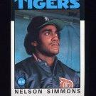 1986 Topps Baseball #121 Nelson Simmons - Detroit Tigers