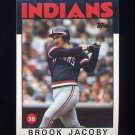 1986 Topps Baseball #116 Brook Jacoby - Cleveland Indians