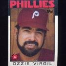 1986 Topps Baseball #095 Ozzie Virgil - Philadelphia Phillies