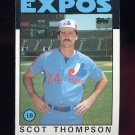 1986 Topps Baseball #093 Scott Thompson - Montreal Expos