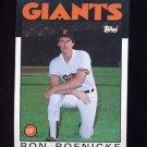 1986 Topps Baseball #063 Ron Roenicke - San Francisco Giants