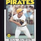 1986 Topps Baseball #048 Bill Almon - Pittsburgh Pirates