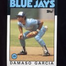 1986 Topps Baseball #045 Damaso Garcia - Toronto Blue Jays