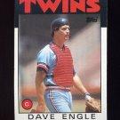 1986 Topps Baseball #043 Dave Engle - Minnesota Twins