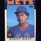 1986 Topps Baseball #018 Brent Gaff - New York Mets