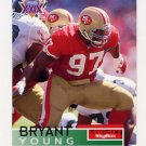1995 Skybox Impact Football #135 Bryant Young - San Francisco 49ers