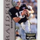 1995 Skybox Premium Football #066 Jeff Hostetler - Oakland Raiders