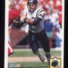 1992 Fleer Football #359 Burt Grossman - San Diego Chargers