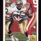 1992 Fleer Football #281 Fred McAfee RC - New Orleans Saints