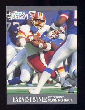1991 Ultra Football #269 Earnest Byner - Washington Redskins