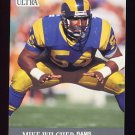 1991 Ultra Football #190 Mike Wilcher - Los Angeles Rams