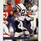 1993 Ultra Football #409 Darren Carrington RC - San Diego Chargers