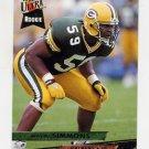 1993 Ultra Football #154 Wayne Simmons RC - Green Bay Packers