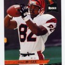 1993 Ultra Football #062 Tony McGee RC - Cincinnati Bengals