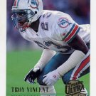 1994 Ultra Football #180 Troy Vincent - Miami Dolphins